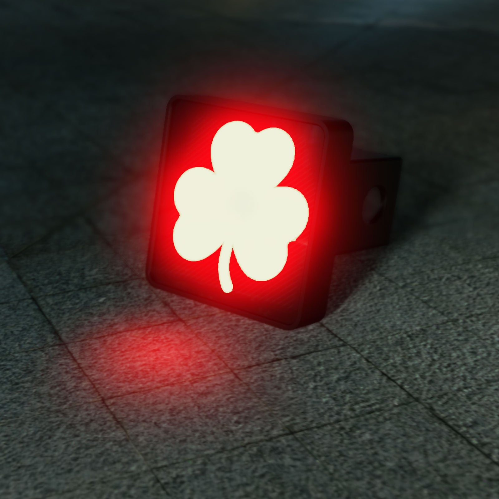 Lucky Clover Shamrock LED Hitch Cover - Brake Light