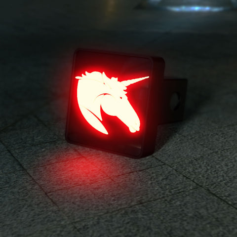 Unicorn Head LED Hitch Cover - Third Brake Light