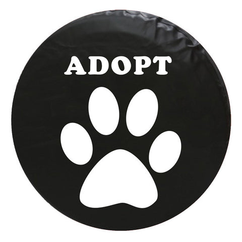 Paw Adopt Vinyl Spare Tire Cover