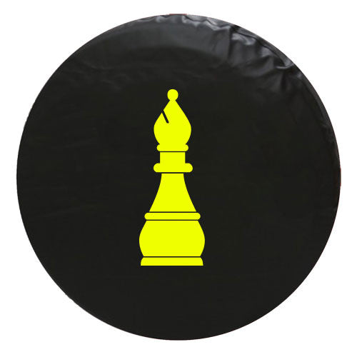 Bishop Chess Piece Vinyl Spare Tire Cover