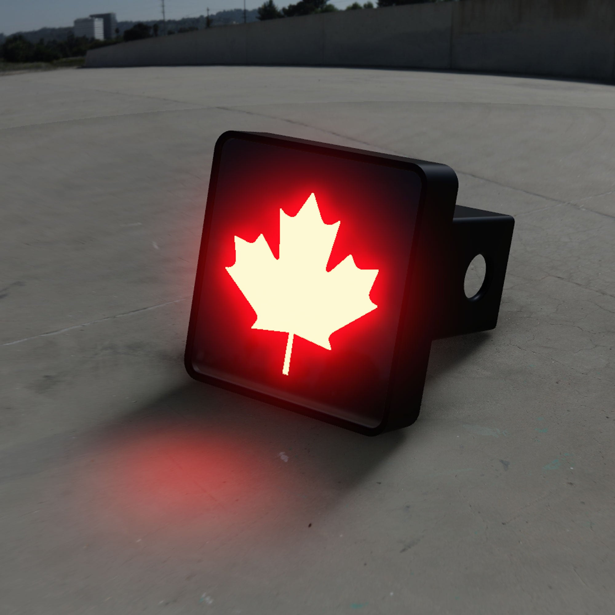 Canadian Maple Leaf LED Hitch Cover - Brake Light