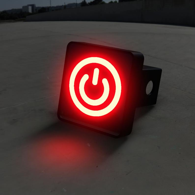 Power Button LED Hitch Cover - Brake Light
