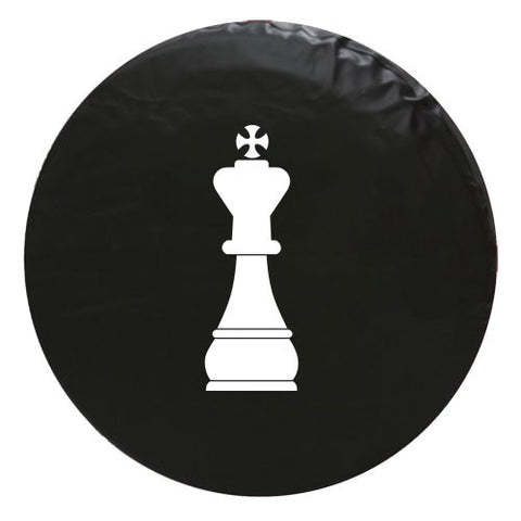 King Chess Piece Vinyl Spare Tire Cover