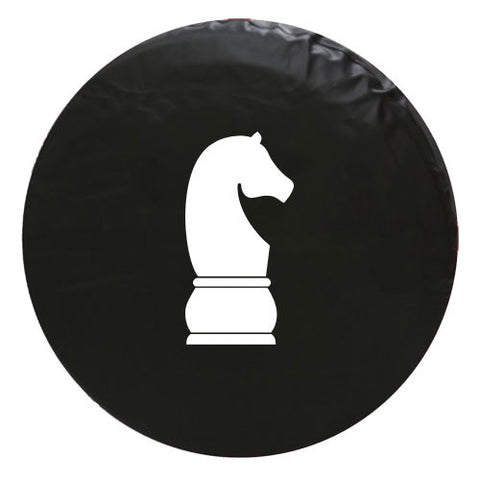 Knight Chess Piece Vinyl Spare Tire Cover