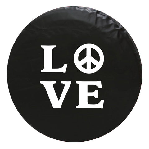 Peace and Love Vinyl Spare Tire Cover