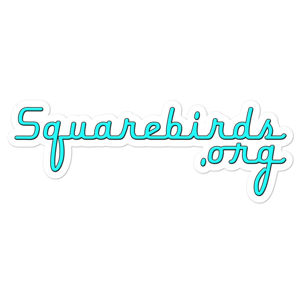 Squarebirds.org Bubble-free stickers