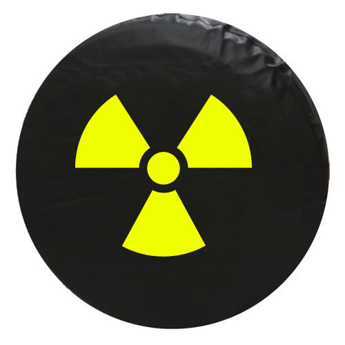 Radiation Symbol Vinyl Spare Tire Cover