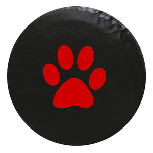 Paw Print Vinyl Spare Tire Cover