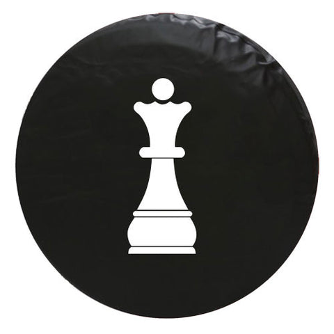 Queen Chess Piece Vinyl Spare Tire Cover