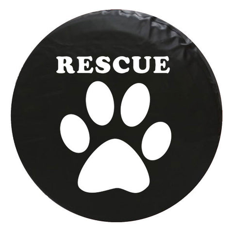 Paw Rescue Vinyl Spare Tire Cover