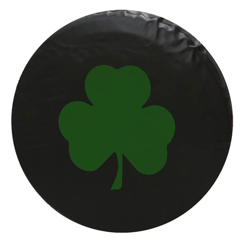 Lucky Green Shamrock Clover Tire Cover