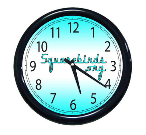 Squarebirds.Org Gradient Wall Clock