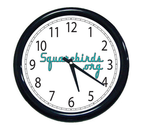 Squarebirds.Org Wall Clock