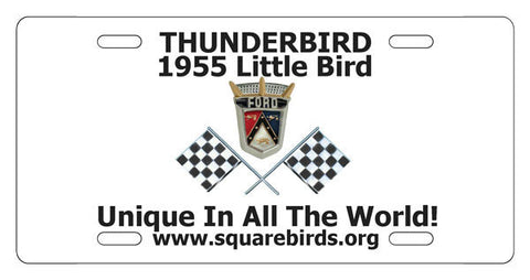 Squarebirds.Org Thunderbird License Plates 1955 - 2005