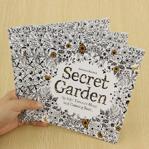 Painting - Secret Garden 24 Pages Coloring Book