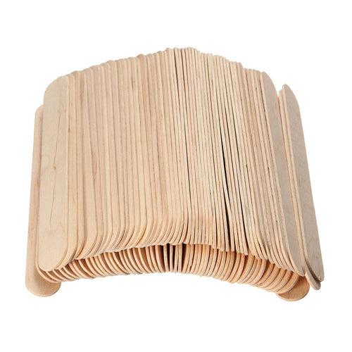 100 Pieces 6 Inch Wooden Waxing Spatula