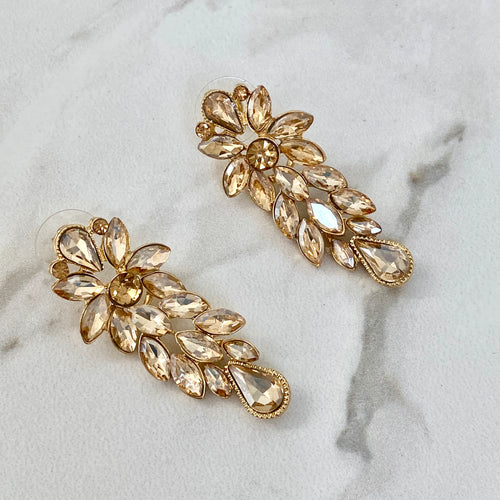 VERA Champagne Gold Statement Earrings