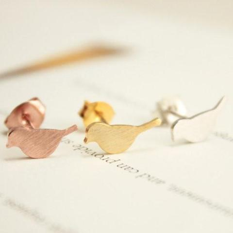 FIFI Bird Earrings (Gold, Silver, Rose Gold)