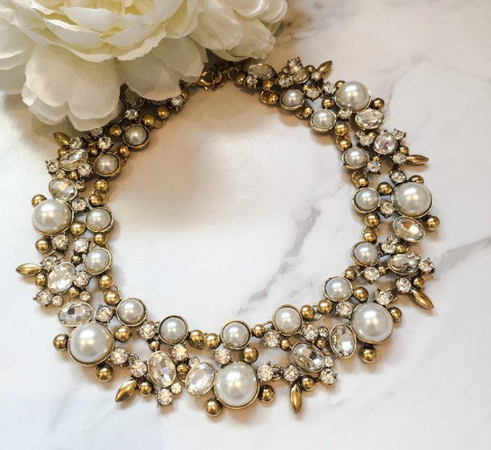 pearl statement necklace womens accessories