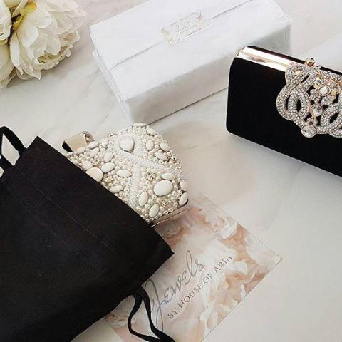 KYLA Nude Cutwork Clutch Bag