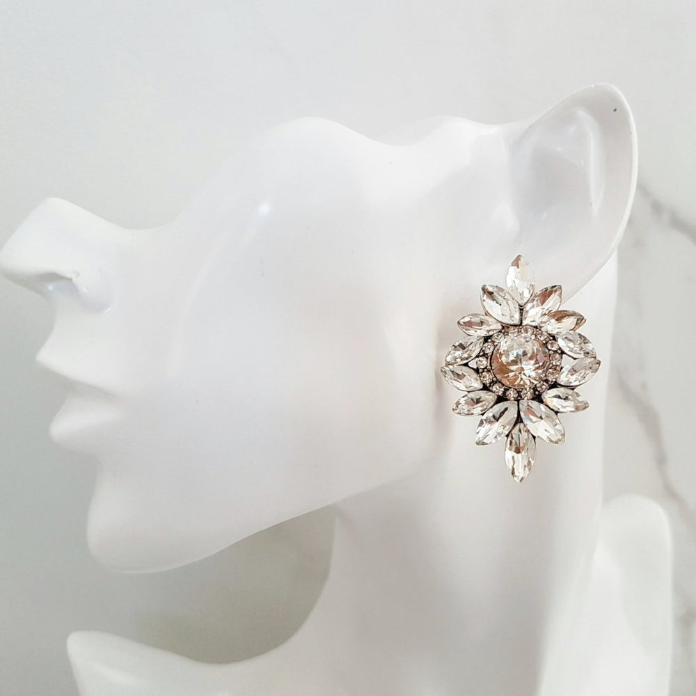 DION Rhinestone Stud Earrings