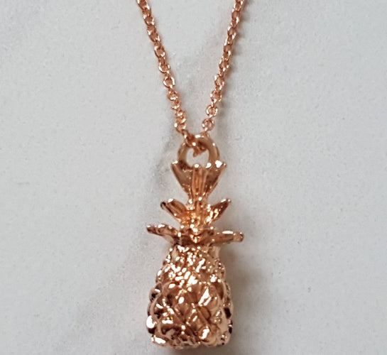 rose gold pineapple necklace jewellery