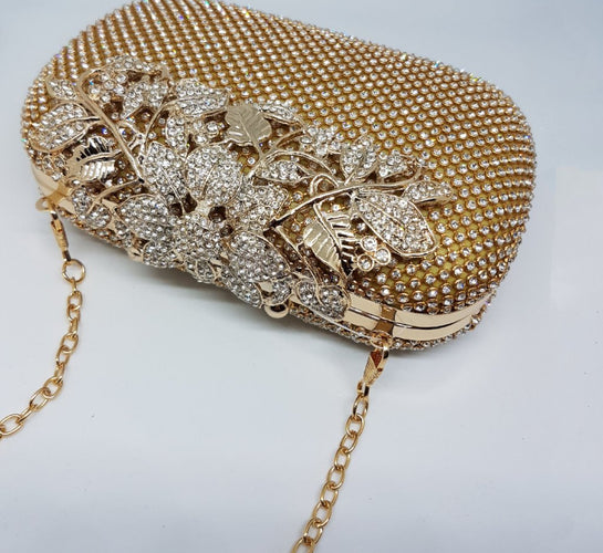 7294ca6888 Womens gold embellished clutch bag; womens gold bag for special occassion  ...