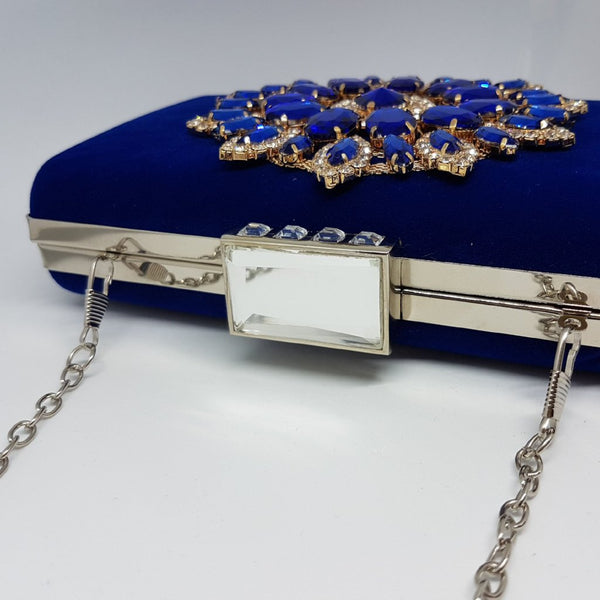 NALA Royal Blue Suede Clutch