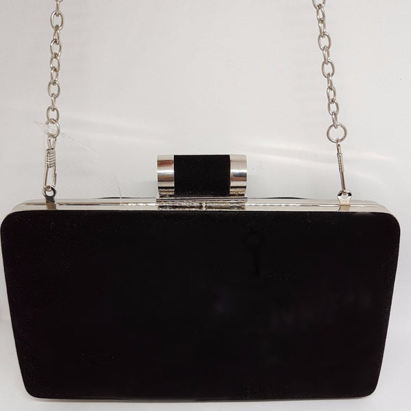 DEMI Black Suede Clutch bag