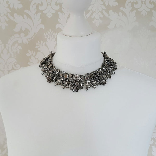ANOIR Graphite Grey Statement Necklace