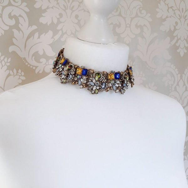 AVAANI Colourful Rhinestone Choker