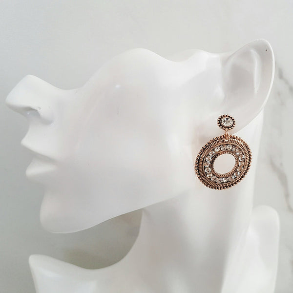 SIAN Gold Disc Earrings