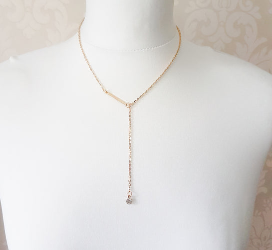 dainty gold womens necklace