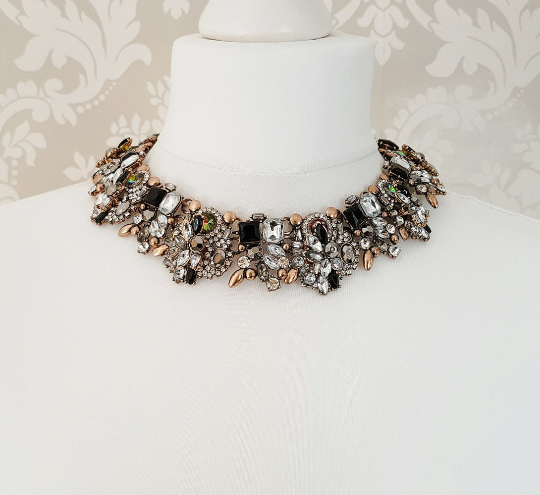 STORM Black & Gold Statement Necklace