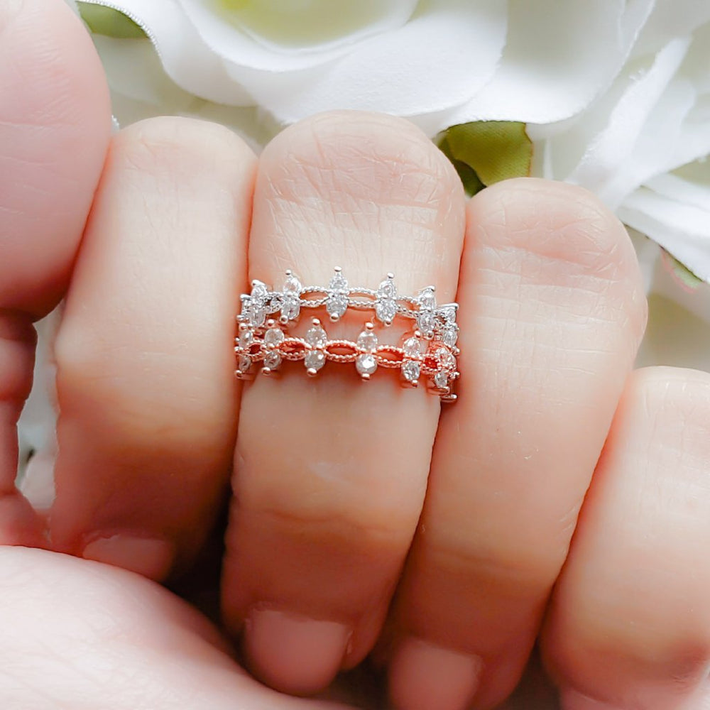 ESME Crystal Ring (Rose Gold & Silver)