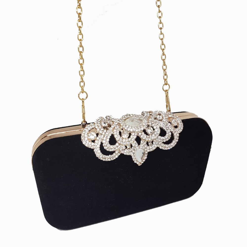 black velvet chain bag