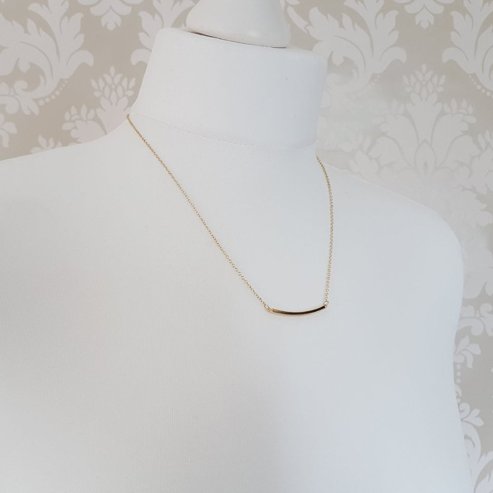 ZEEKA Silver Bar Necklace