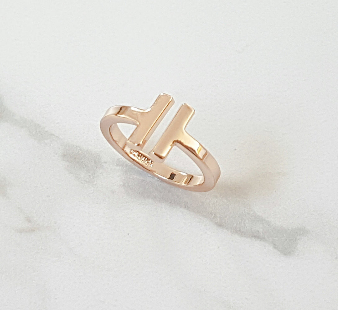 Minimal Parallel Ring (Gold & Silver)