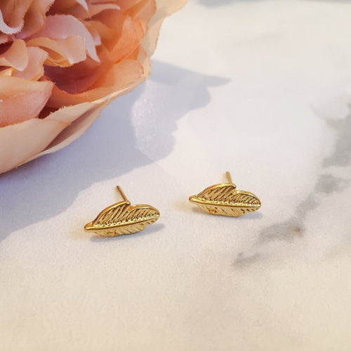 womens leaf stud earrings