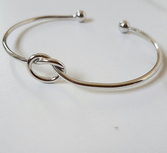 Knot Bangle (Silver & Gold)