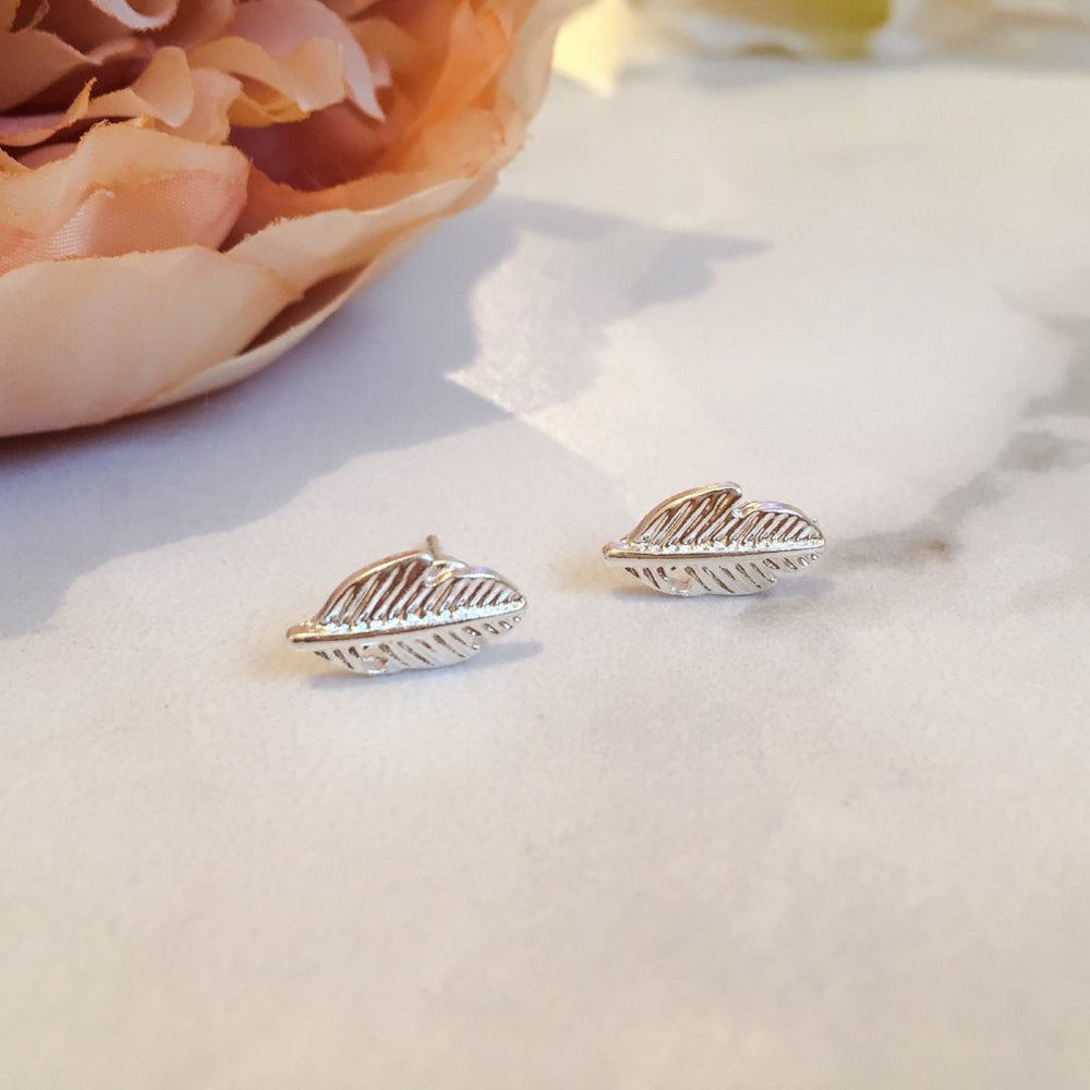 EVE Leaf Stud Earrings (Gold, Silver & Rose Gold)