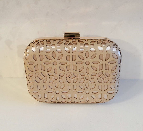 womens nude clutch bag