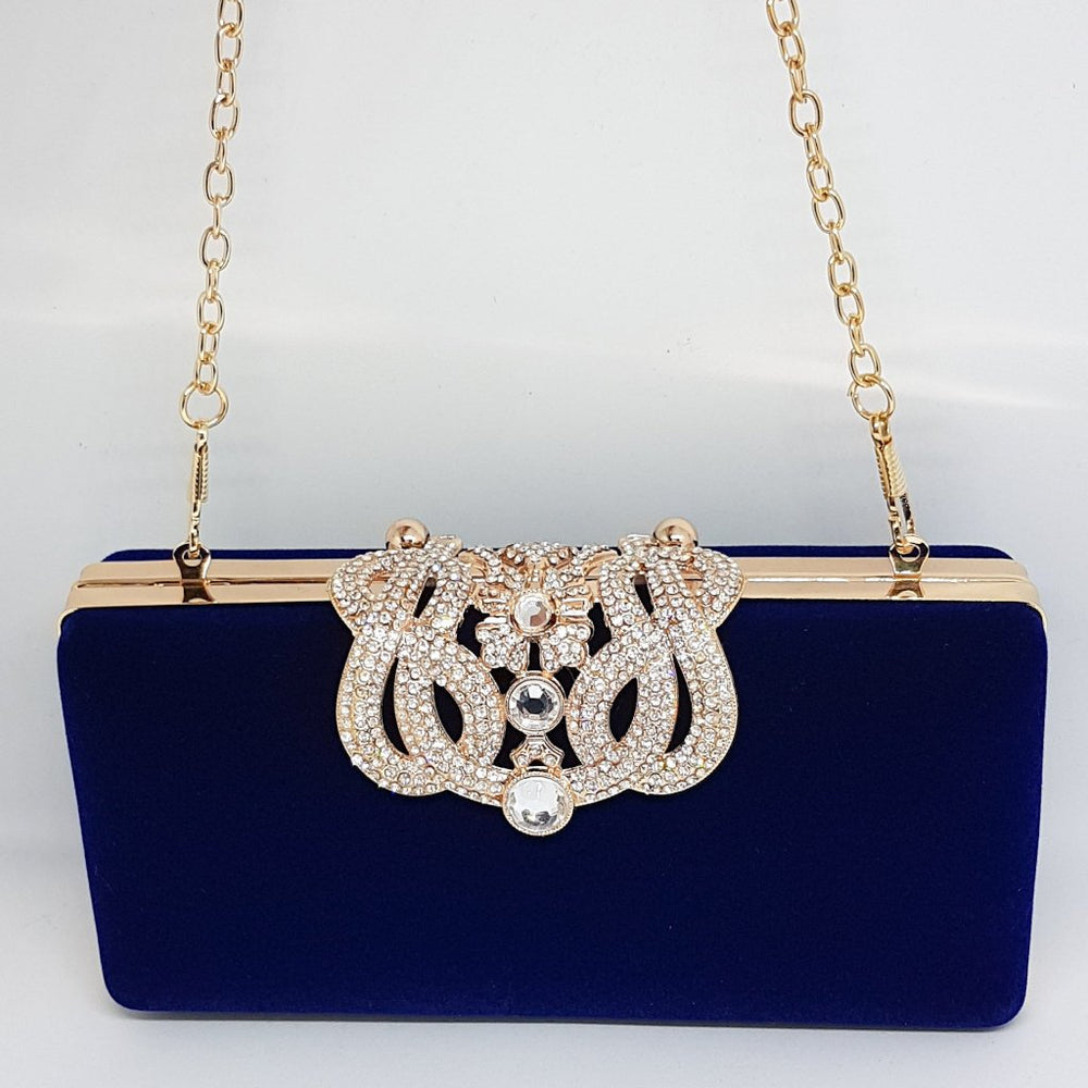 women's designer blue chain bag