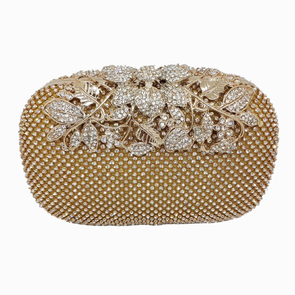 gold rhinestone embellished bag