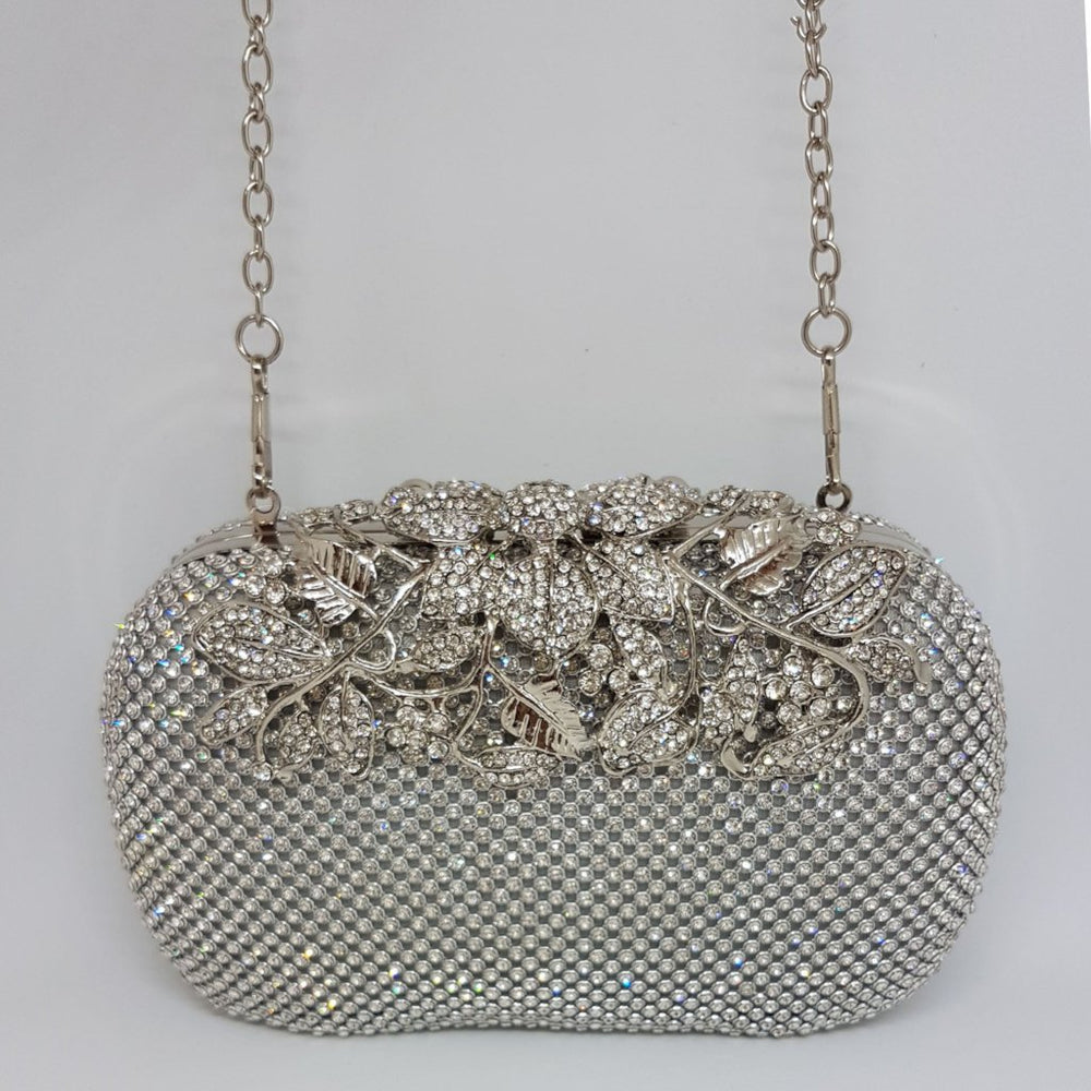 rhinestone and jewel encrusted designer bag