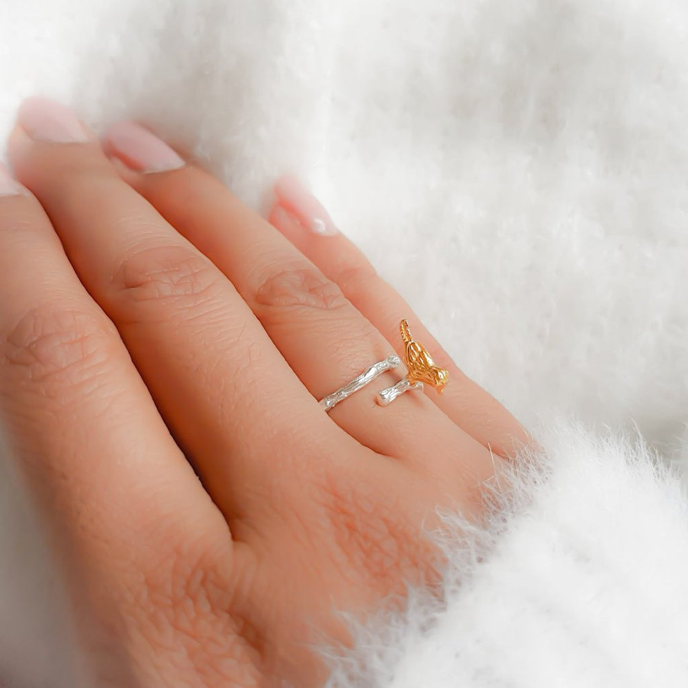 Gold Bird Adjustable Ring
