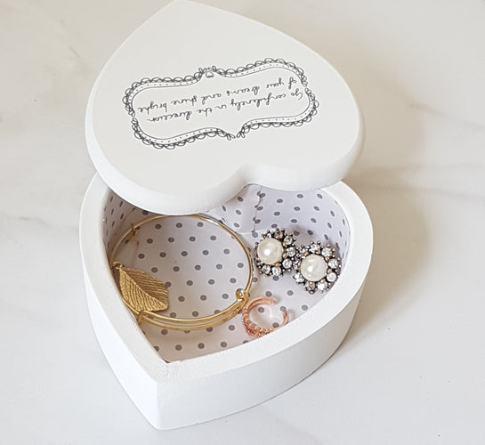 Wooden Heart Jewellery Box
