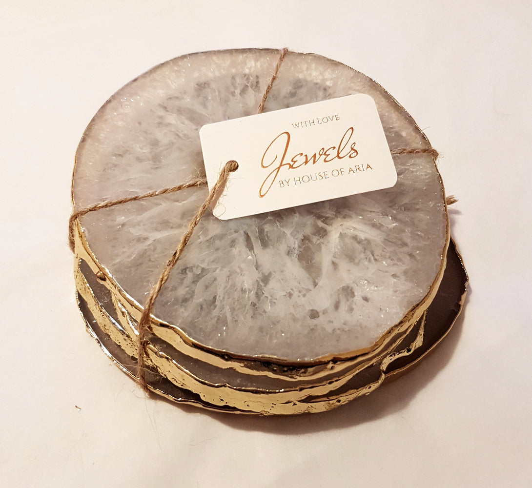 new home gift, house warming gift, crystal and marble coasters