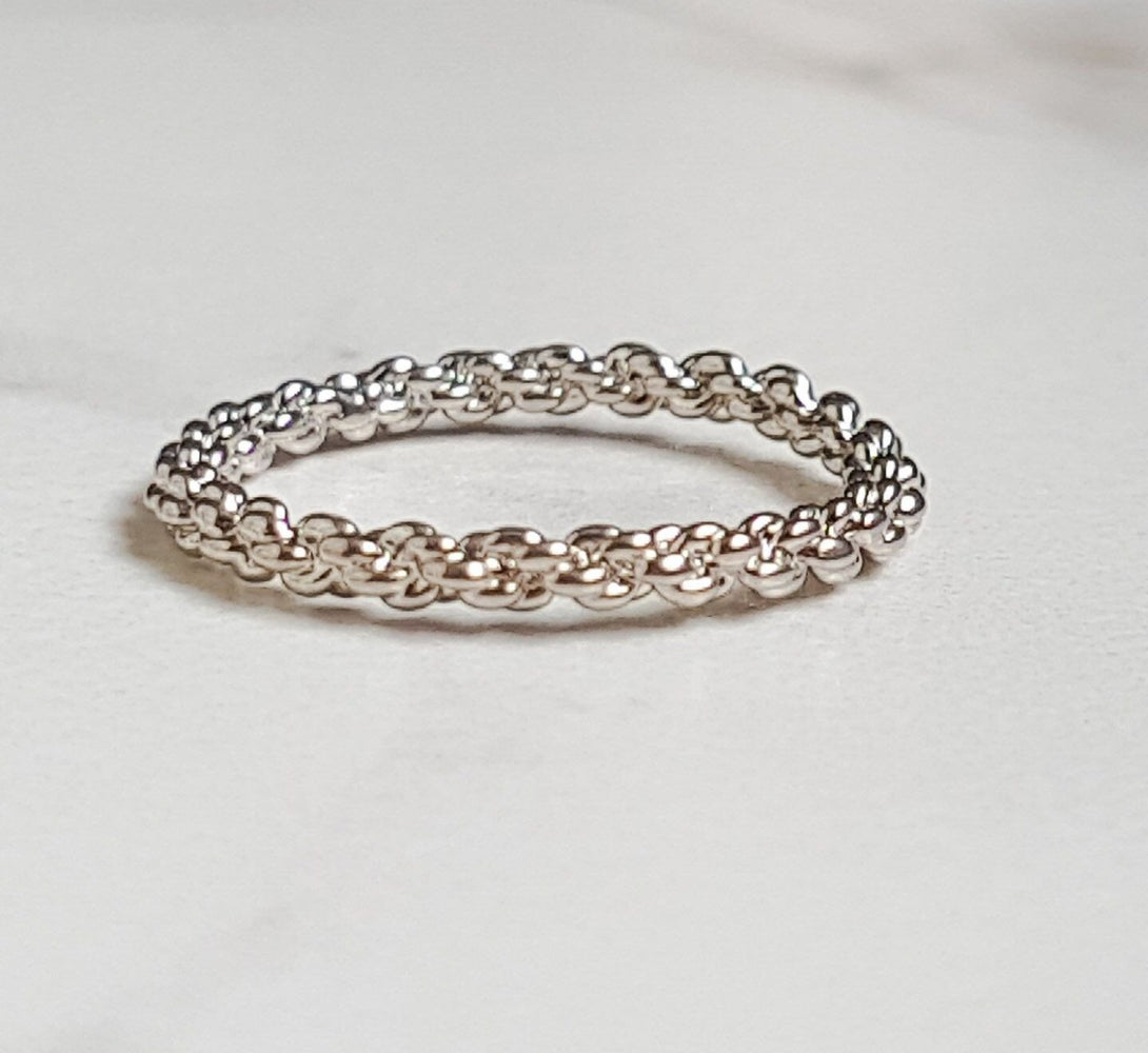 VENICE Twisted Ring (18k Rose Gold & Silver)