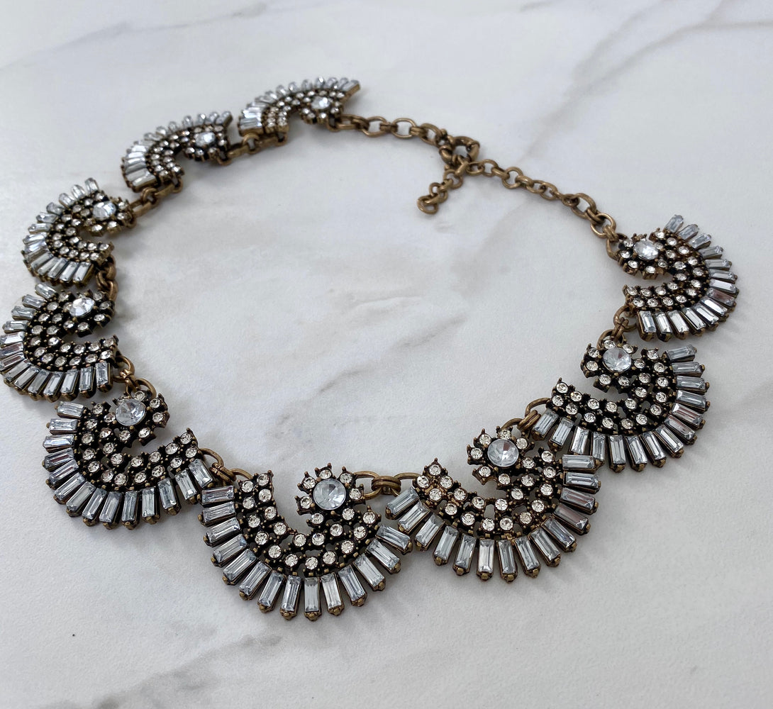 SOFIA Antique Gold Statement Necklace
